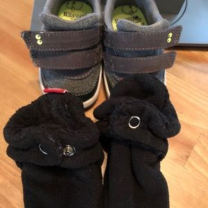 Size 4 baby sneakers and slippers